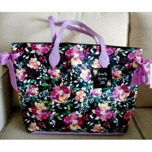 Simply Spring Floral Faux Leather Tote NEW w/ Tag